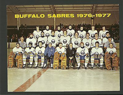 Buffalo Sabres 1976-77 Team Issued Card Stock Vintage Hockey Photo Gil Perreault
