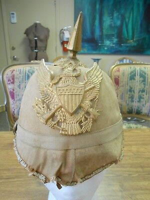 Rare Indian Wars Period Spiked Helmet w/ US Army Crossed Rifle Eagle Insignia