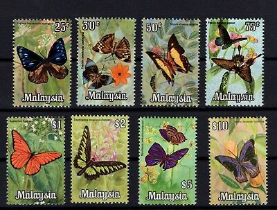 P99177/ Malaysia / Butterflies / Y&t # 68 / 75 Neufs * / Mint Mh / Complete 50 €