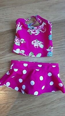 Baby Girls NEXT Swimming Costume - 3-6 Months - Pink With Flowers