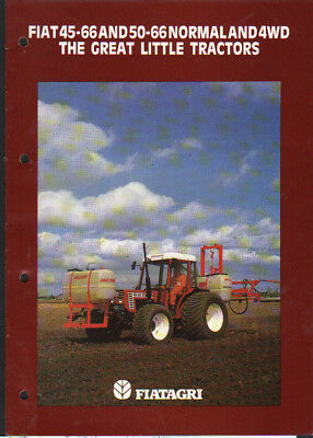 FIAT 45-66 and 50-66 Tractor Brochure Leaflet