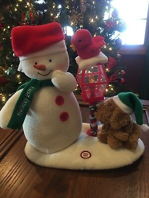 Hallmark Jingle Pals 2013 Merry Carolers Trio Animated Singing Snowman,Dog,Bird