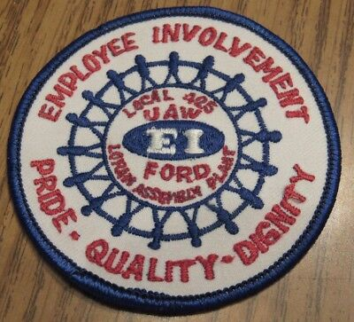 """Vintage Ford Assembly Plant Lorain, OH Employee Involvement 3"""" Patch - Ohio"""
