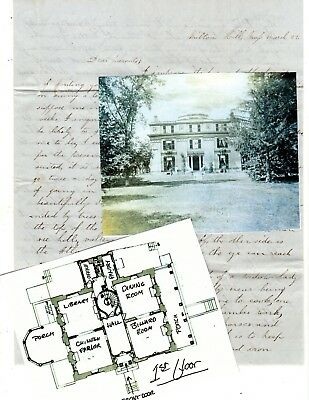 1850s Handwritten Stampless Letter Milton Hill MA Famous Forbes Seafaring Family