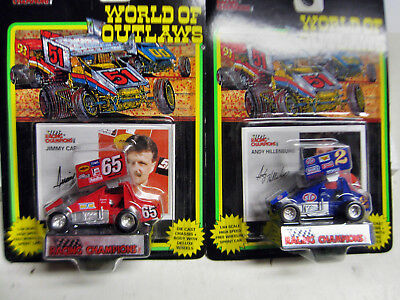 "2 * Racing Champions WORLD of OUTLAWS ""Jimmy Carr,""""Andy Hillenburg""  OVP"