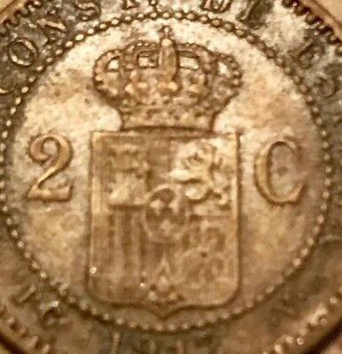 the Scarce 1912 Spanish Coin Ancient Pirate Sea Shipwreck Era Spain Antique Old