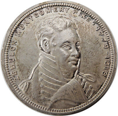 Colorado- Zeb Pike Southwest Expedition 1806-1906 Silver So-Called Dollar HK-336