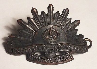 Australian Commonwealth Military Forces Rising Sun Hat Badge Australian Army