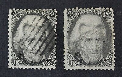 CKStamps: US Stamps Collection Scott#73 2c Jackson Used 2 Shades