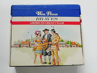 Vintage William Penn Cigar Box Braves Indians Advertising