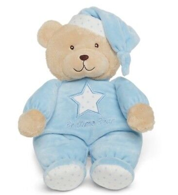 Mothercare Bedtime Bear Baby Soft Toy - Blue B+