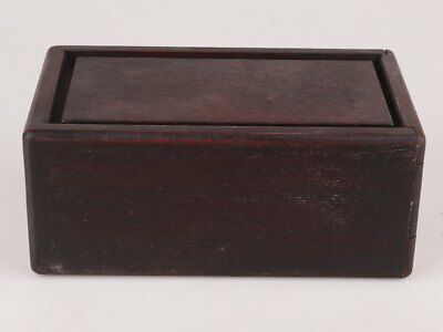 Old Solid Wood Carving Ancient Chinese Wisdom Organ Box Collection Gift