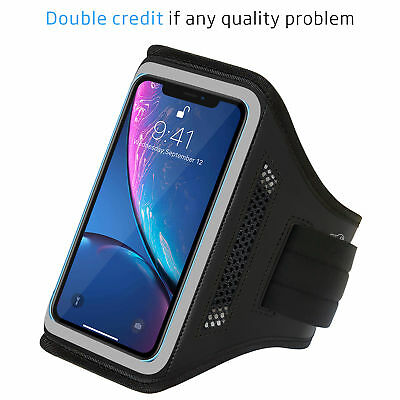 Newest Armband Sport Running Exercise Gym Sportband Case for iPhone XR - Gray