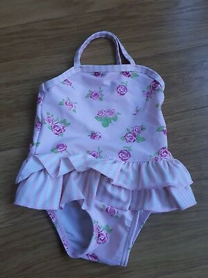 Baby Girls MOTHERCARE  Swimming Costume - 3-6 Months - Pink With Flowers