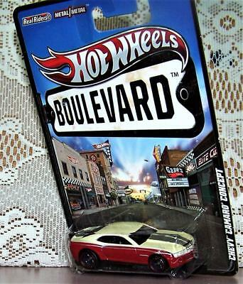 Hot Wheels Boulevard Camaro Chevy Concept Cars Chevrolet Color Classic RED WHITE