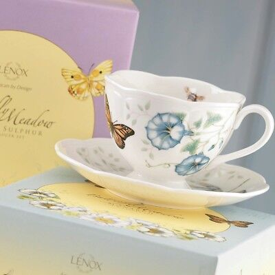 New LENOX Butterfly Meadow Monarch Teacup & Saucer