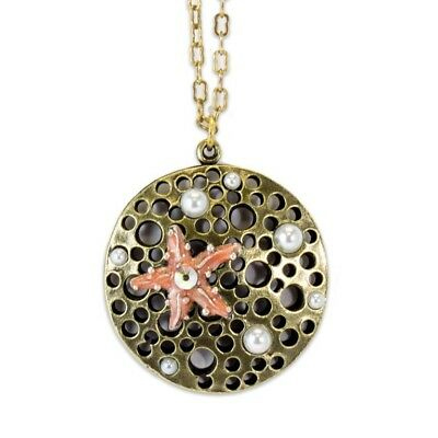 New Anne Koplik Wish Upon A Starfish Pendant Necklace ~~Made In Usa~~