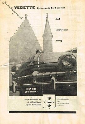 1949 Ford Vedette (Dutch, 1pg.) Advertisement (AAD.787)