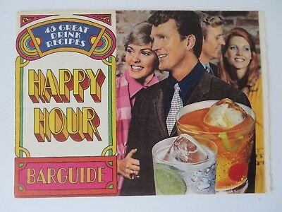 Vintage 1970 Southern Comfort Happy Hour Bar Guide  #8451