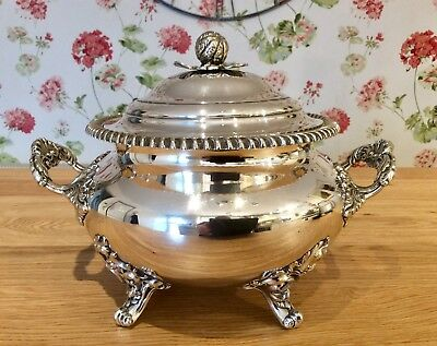 Superb 19th Century Repousse Silver Plated 4 Pint Soup Tureen C1850 1.9 Kg