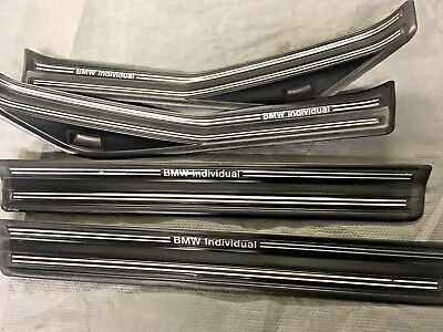 bmw e46 individual sill trim covers kick/tread plates, rare and lovely condition