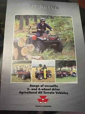 Massey Ferguson ATV AgTV quad bike tractor brochure
