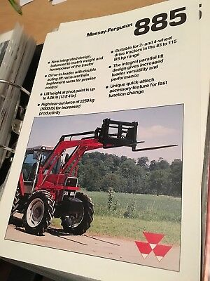 Massey Ferguson 885 loader 300 3000 series 390 398 399 3070 tractor brochure