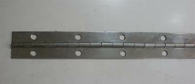 """Jefco 125SS720212002STS 72"""" Continuous Hinge 1.25"""" Wide Stainless Steel 19819"""