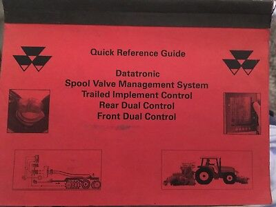 Massey Ferguson Datatronic trailed implement reference guide tractor brochure