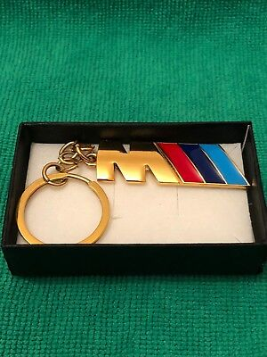 Keyrings & Keyfobs Automobilia Bmw M Power 24ct Gold Plated Keyring M1 M2 M3 M4 M5 M6 M8 X5 X6 Sport 24k
