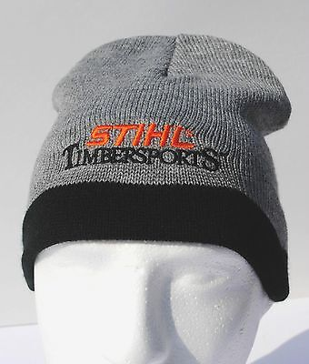 STIHL  gray and black  knitted beanie / cap / hat