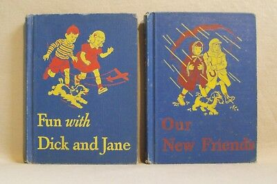 Fun with Dick & Jane / Our New Friends 1946-47 Scott, Foresman & Co. 2 PAC (hc)
