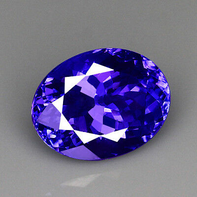 VVS 6.8Ct 100% Natural Unheated AAAAA Violet Blue Tanzanite D'Block QTEg52