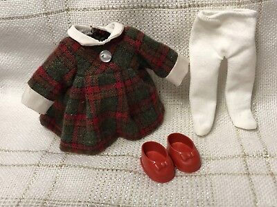 Doll CLOTHES DRESS, shoes, tights, Alex, Muffie, Vogue Ginny, Ginger 8""