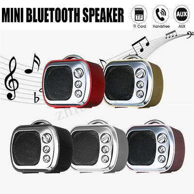 Mini Portable Bluetooth Speaker Wireless Radio Bass Stereo TF/AUX Party Outdoor