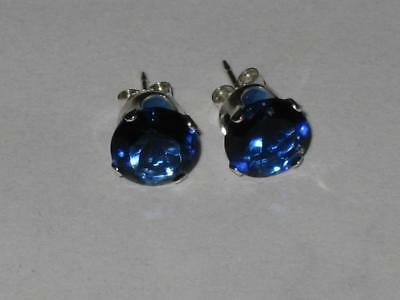 Sapphire Stud Earrings 925 Witch Estate GOOD FORTUNE WISDOM MENTAL HEALTH FOCUS