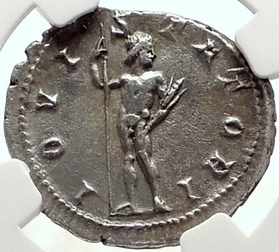 GORDIAN III Authentic Ancient 241AD Silver Roman Coin JUPITER / ZEUS NGC i69076