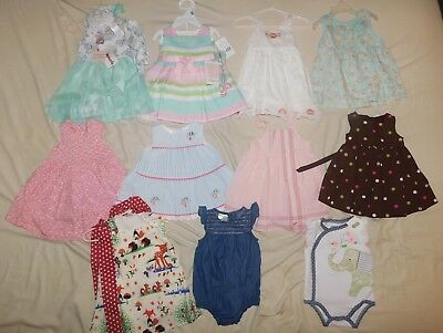 baby girl clothing lot 3-6 months dresses
