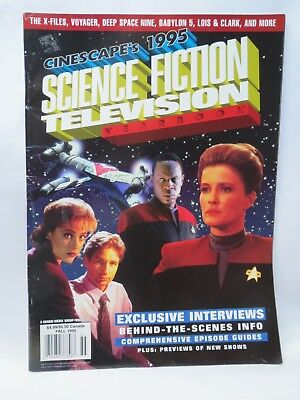 CINESCAPES 1995 SCIENCE FICTION YEARBOOK  X Files Voyager Deep Space Nine etc.