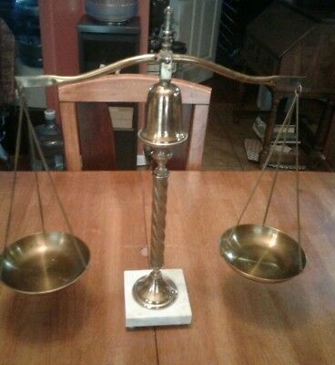 ~'~ Antique Marble Based Justice Scale ~