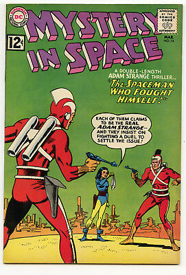 JERRY WEIST ESTATE: MYSTERY IN SPACE #74 (DC 1962) NM- condition Adam Strange NR