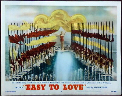 Esther Williams Easy to Love Original 1953 Lobby Card Water Dance Sequence