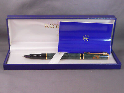 Waterman Vintage Green Marble Rollerball Pen--new in box--Marlin Perkins Society