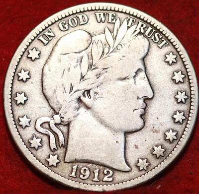 1912-D Denver Mint Silver Barber Half Dollar