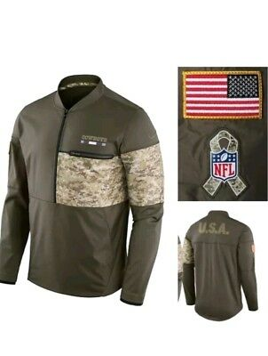 938772853 S Nike Men s NFL 2017 Salute to Service Hybrid 1 2 Zip Jacket Dallas Cowboys