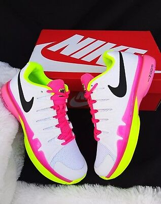 cf568b7a3687 Size 11 women s Nike Zoom Vapor 9.5 Tour White pink Green 631475 107 tennis