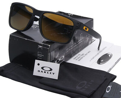 Sunglasses-Holbrook Polarized-Matte-Black Dark brown Iridium