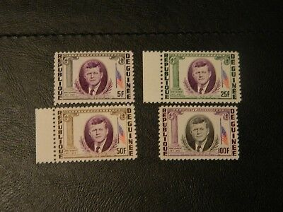 Republic Guinea Stamps SG 426/429 4 MNH President Kennedy Memorial issued 1964.