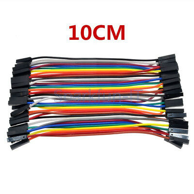 40PCS 10CM Female To Female Dupont wire cables jumpers 2.54MM 1P-1P For Arduino