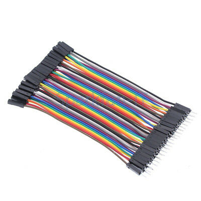 40PCS Male To Male Dupont wire cables jumpers 10CM 2.54MM 1P-1P For Arduino NEW